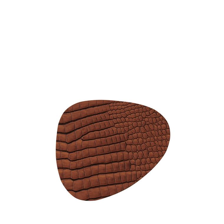 LIND DNA Croco curve glasbrik cognac