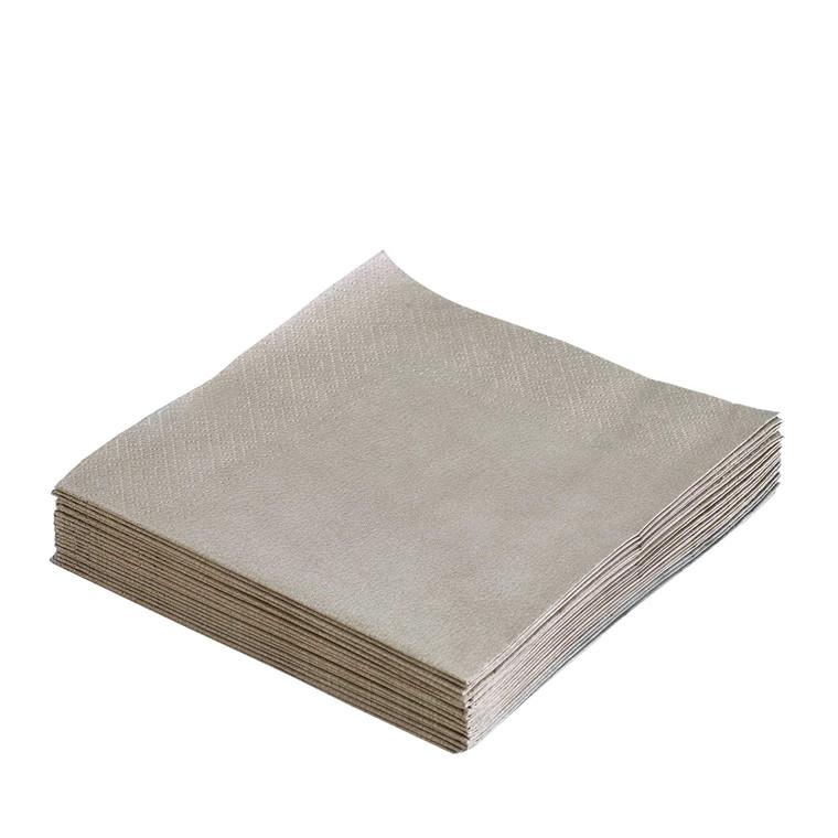 LIND DNA Paper servietter lys grå