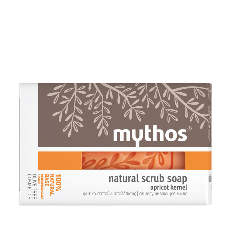 Mythos natural scrub soap apricot kernel 100 g