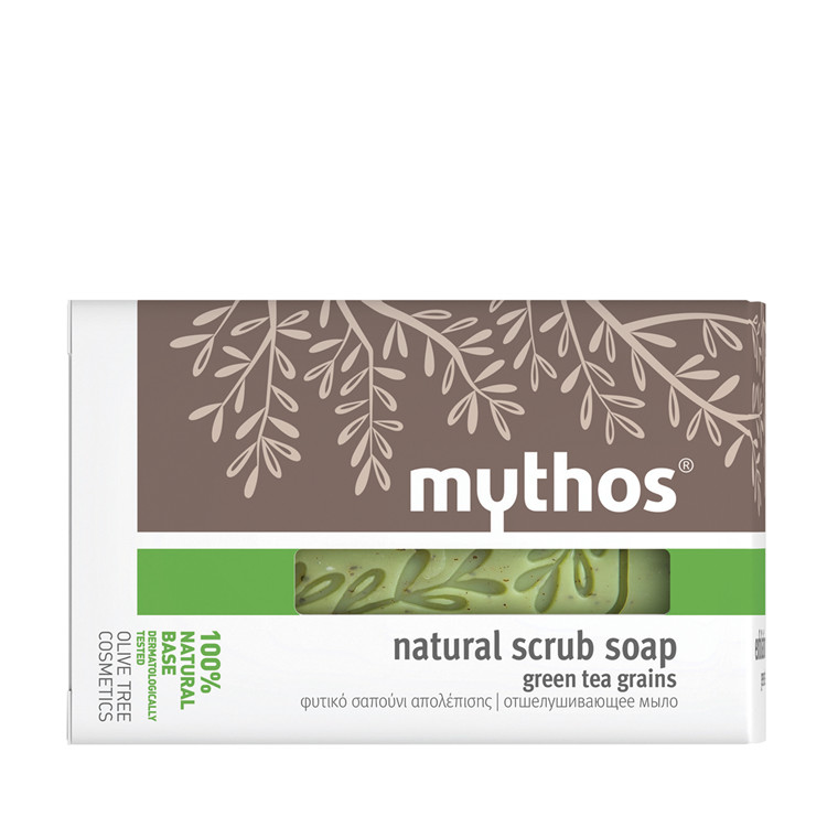 Mythos natural scrub soap green tea grains 100 g