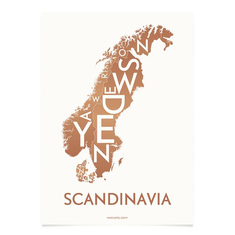 KORTKARTELLET Scandinavian 14,8 X 21 cm kobber