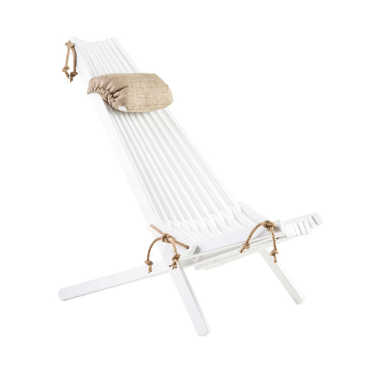 EcoFurn ECO loungestol birk, hvid