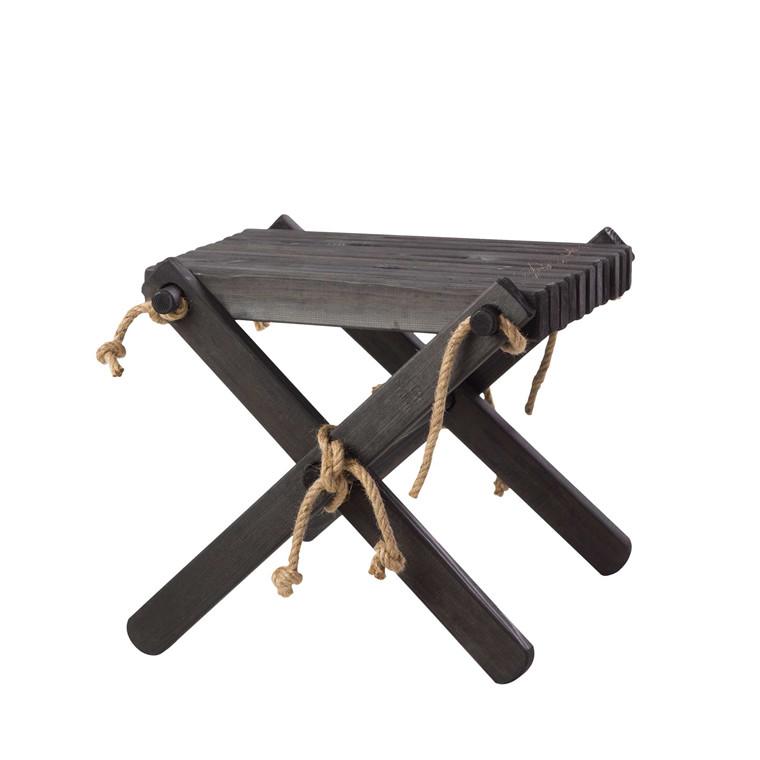 EcoFurn LILLI bord/skammel fyrretræ, sort