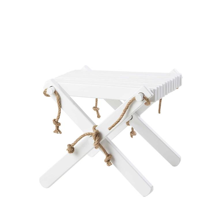 EcoFurn LILLI bord/skammel birk, hvid