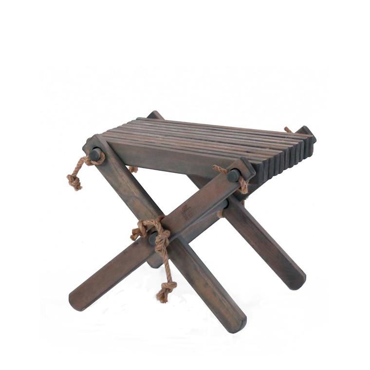 EcoFurn LILLI bord/skammel fyrretræ, grå
