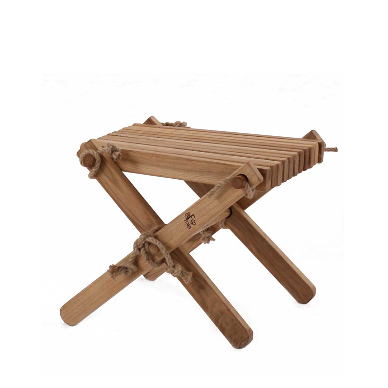 EcoFurn LILLI bord/skammel fyrretræ, brun