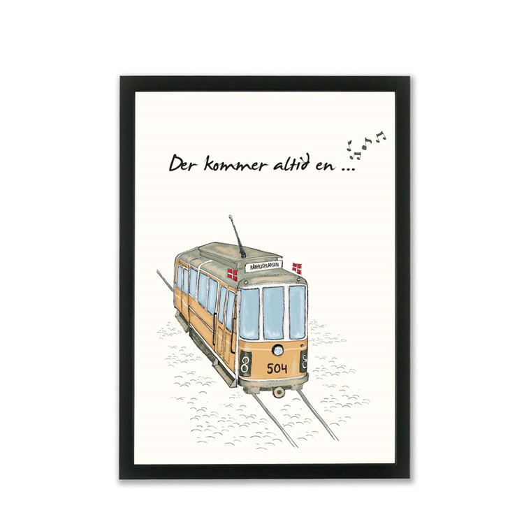 "MOUSE AND PEN ILLUSTRATION ""Linie 8 (sporvogn)"" A4"