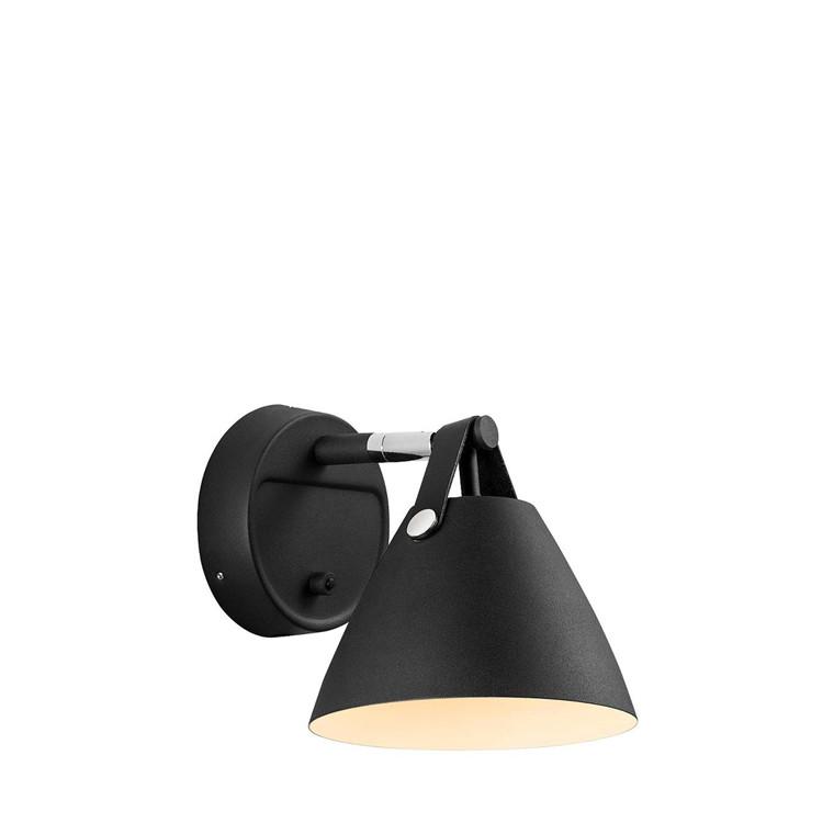 DFTP Strap 15 væglampe GU10 sort