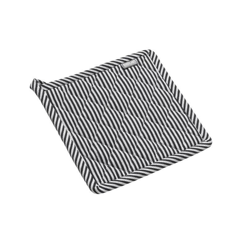 BASTIAN Jumbo grydelap sort/natur stri