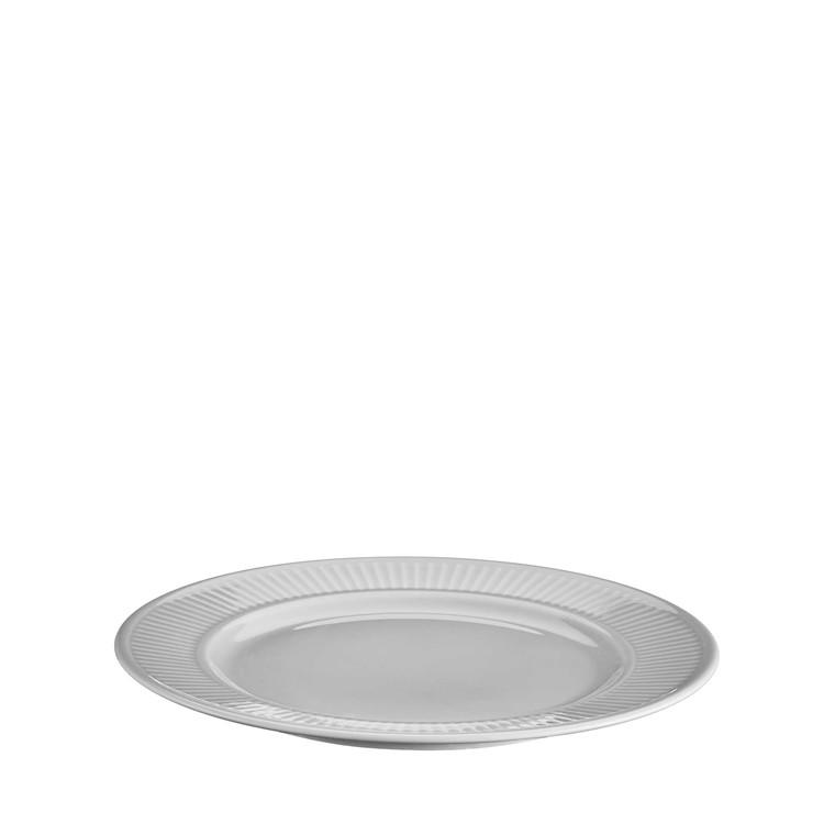 PILLIVUYT Plissé tallerken flad lys grå 22 cm