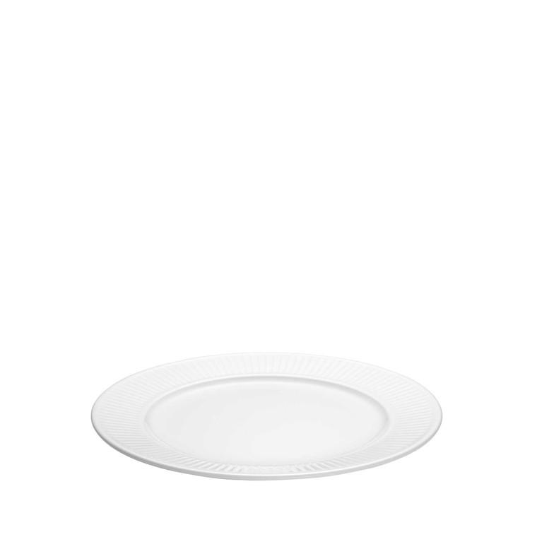 PILLIVUYT Plissé tallerken flad hvid 22 cm