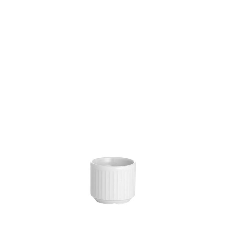PILLIVUYT Plissé æggebæger hvid tandstik