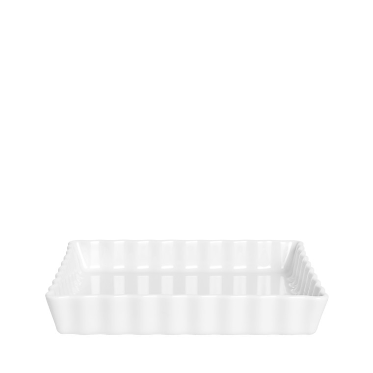 PILLIVUYT Tærteform kvadrat hvid 21cm