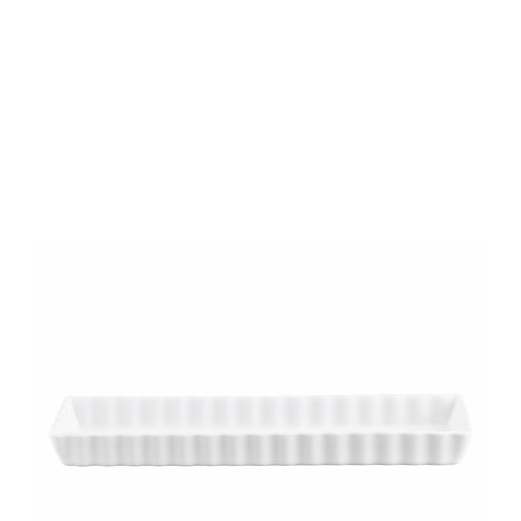 PILLIVUYT Tærteform rektangulær hvid