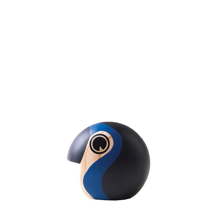 ARCHITECTMADE Discus lille håndmalet fyrretræ sort/blå