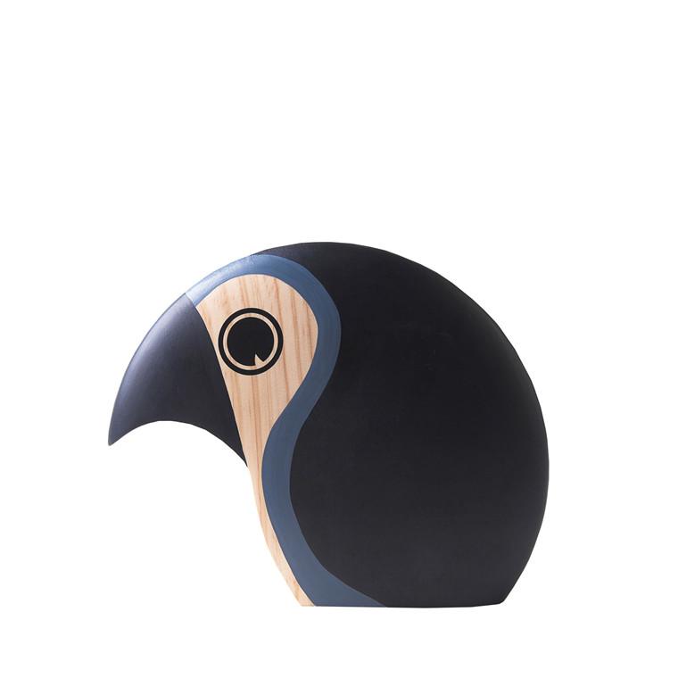 ARCHITECTMADE Duscus stor håndmalet fyrretræ sort/blå