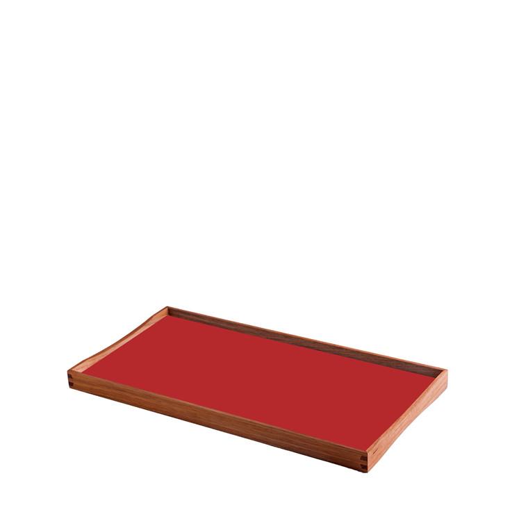 ARCHITECTMADE Turning Tray lille teaktræ sort/rød