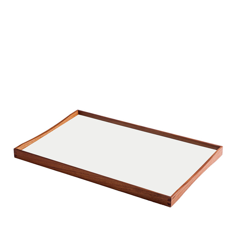 ARCHITECTMADE Turning Tray medium teaktræ sort/hvid