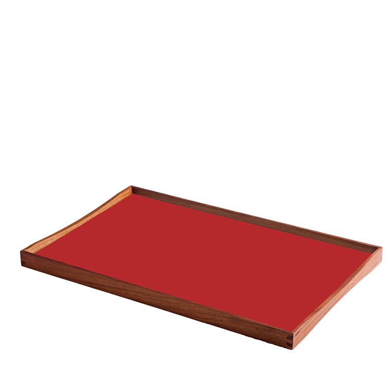 ARCHITECTMADE Turning Tray medium teaktræ sort/rød