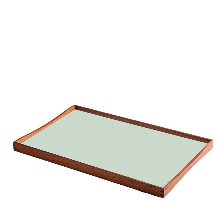 ARCHITECTMADE Turning Tray medium teaktræ sort/grøn