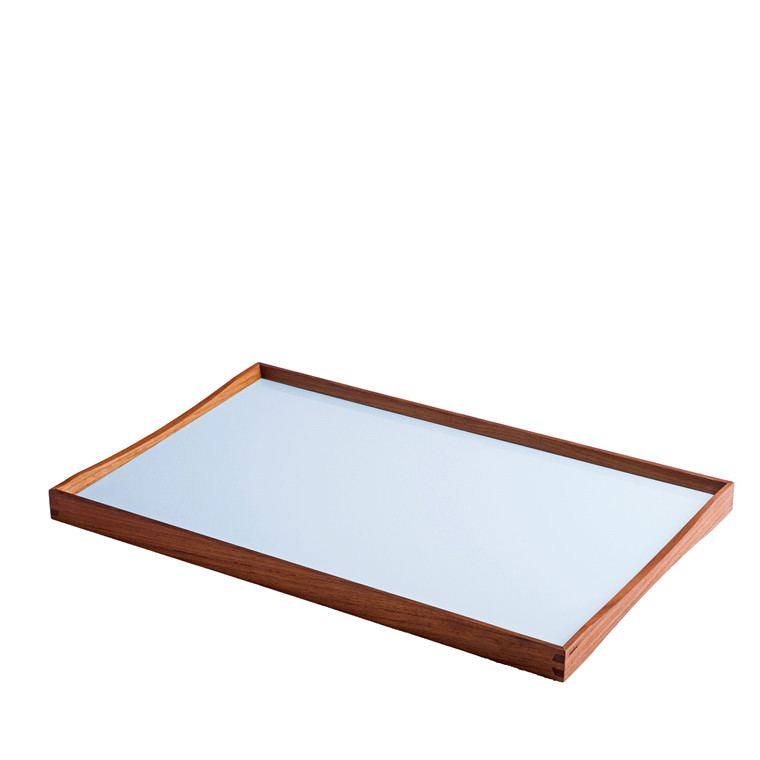 ARCHITECTMADE Turning Tray medium teaktræ sort/blå
