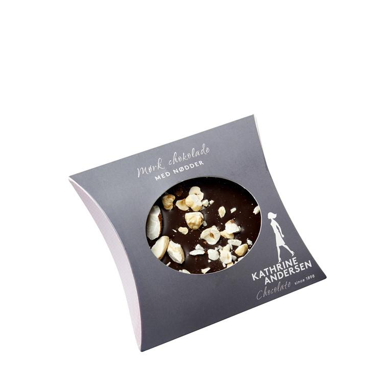 Kathrine Andersen Plade - Mørk chokolade m/nødde
