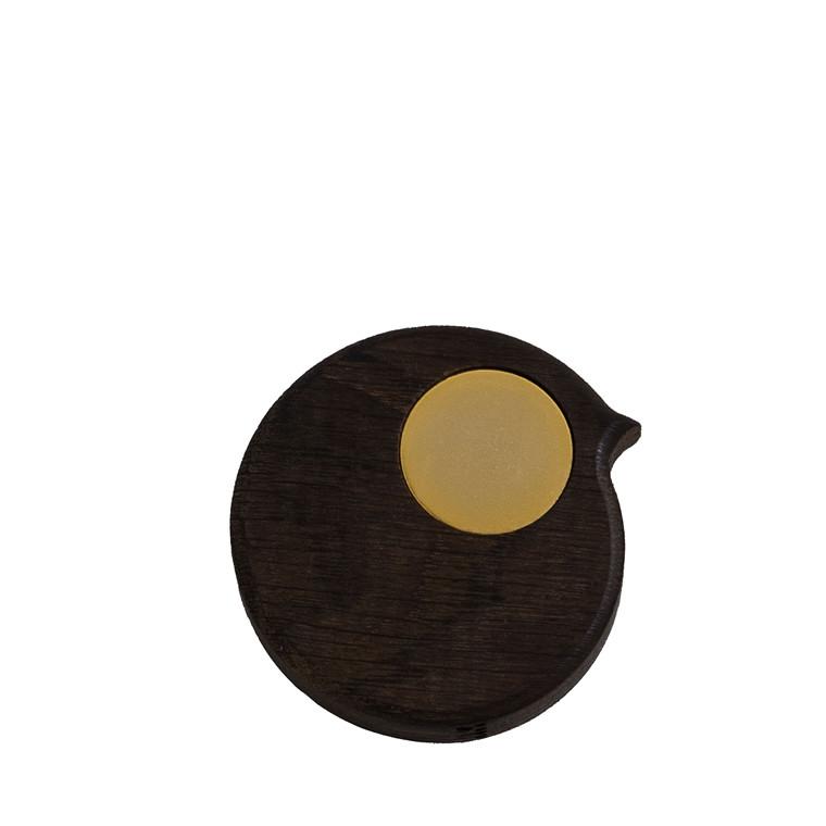 COLLECT FURNITURE BiRP magnet Røget olieret med gylden øje