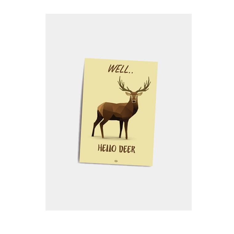 CITATPLAKAT Hello deer A7