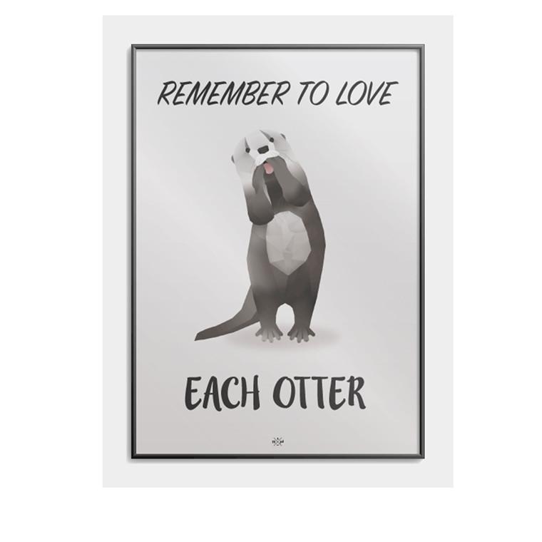 CITATPLAKAT Remember to love each otter B2