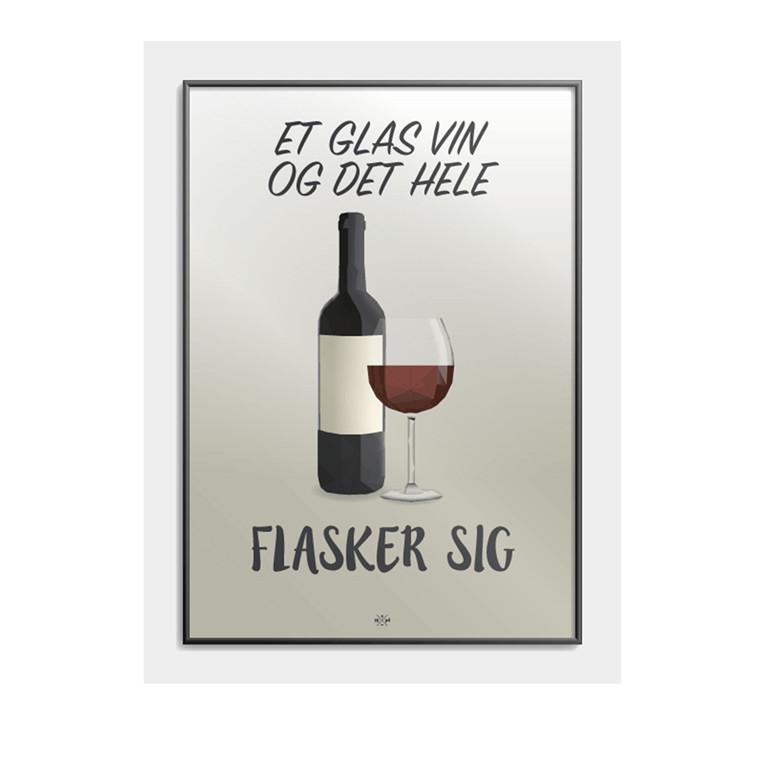 CITATPLAKAT Et glas vin B2