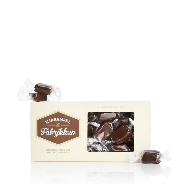 PR CHOKOLADE Karamel med mint og chokolade