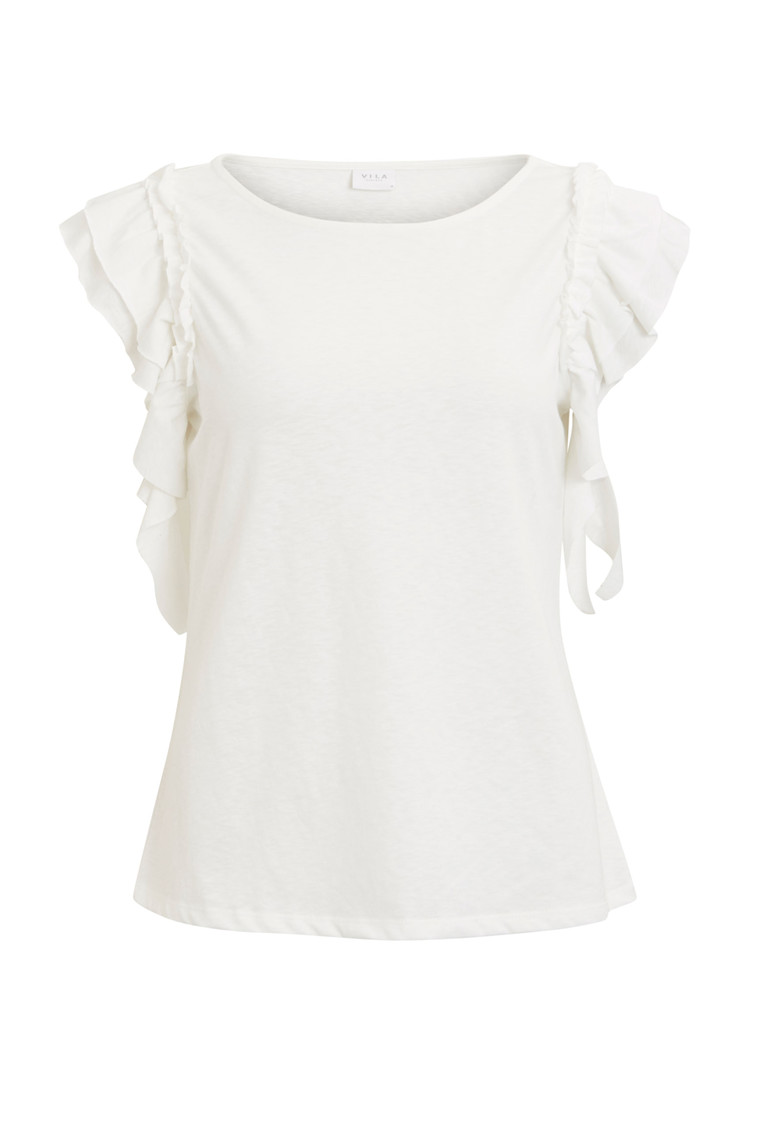 VILA Kate ruffle top