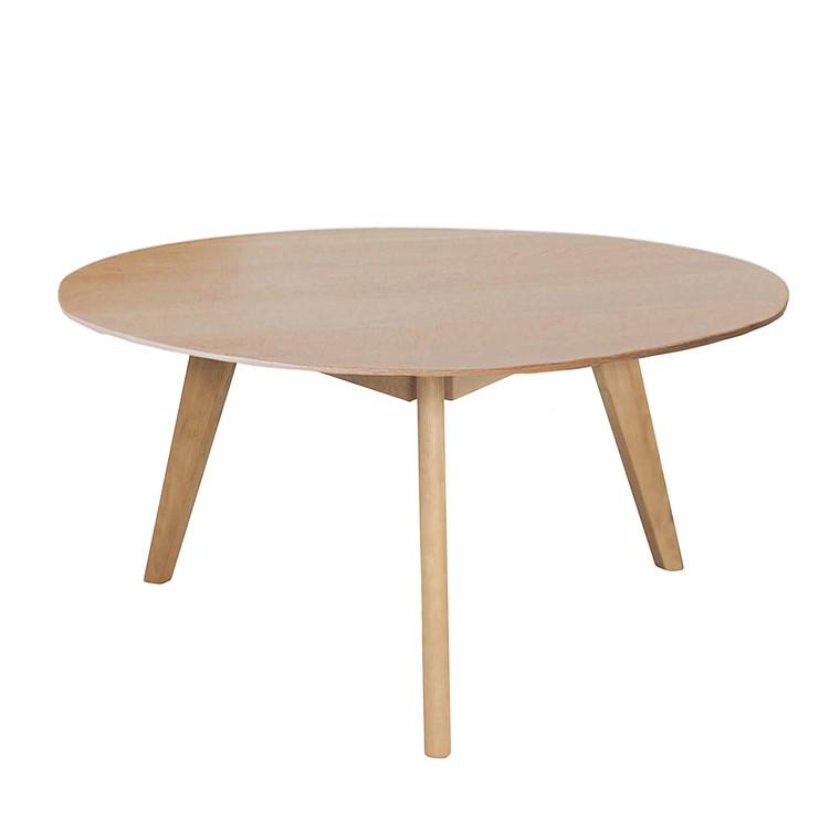 BLOOM sofabord egetræ Ø 90 cm