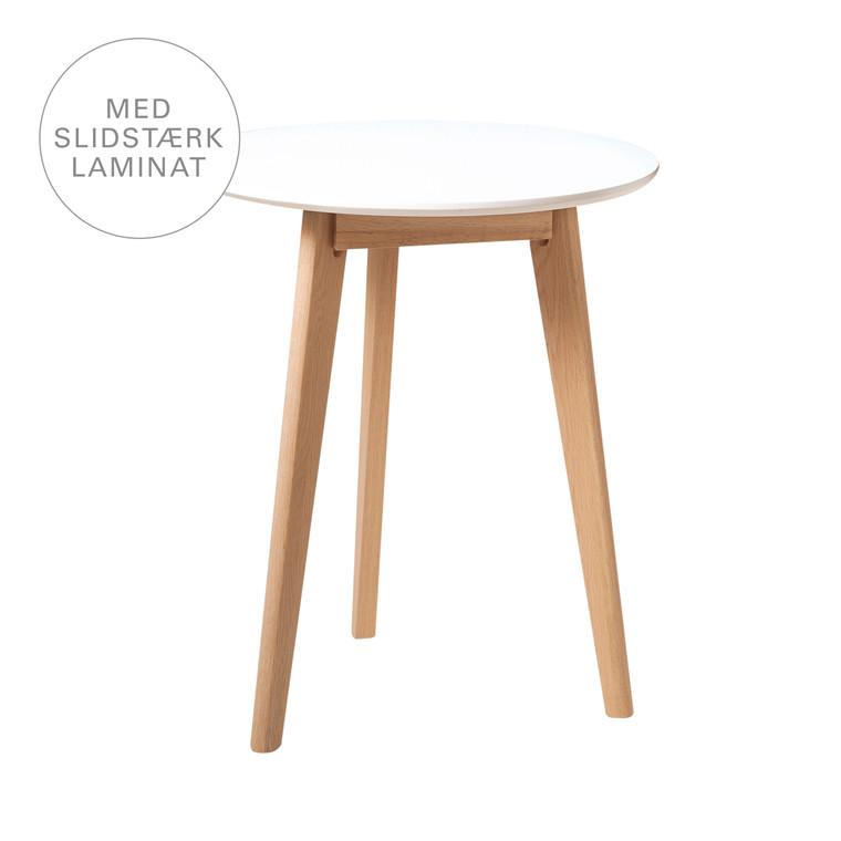 BLOOM cafébord i laminat hvid Ø 60 cm