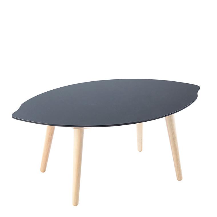 LEAF sofabord sort L 100 x B 60 cm