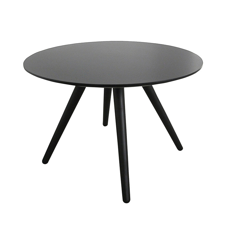 LIVA sofabord sort Ø 90 cm