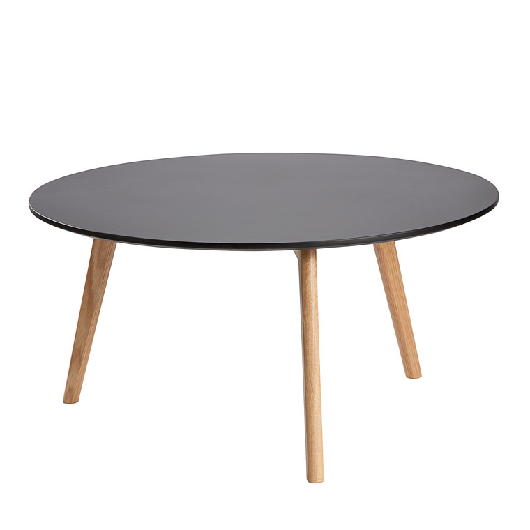 JACKIE sofabord sort Ø 90 cm