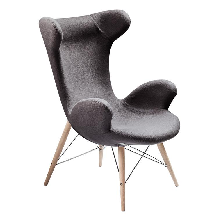 VICTOR® loungestol uldfilt grå