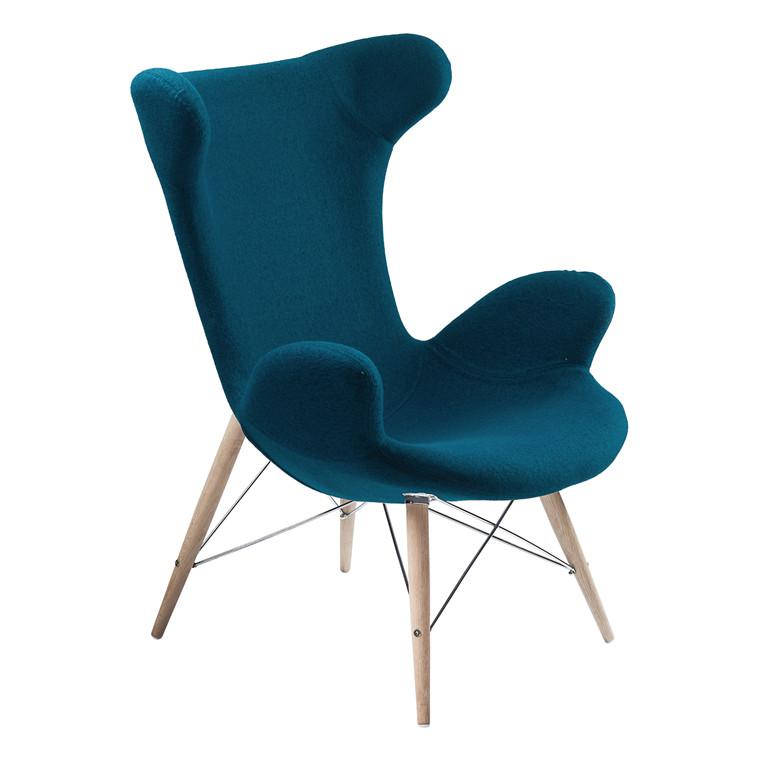 VICTOR® loungestol uldfilt petrolblå