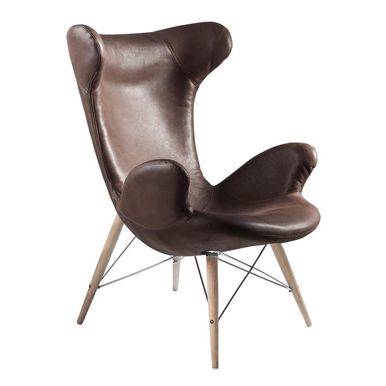 VICTOR® loungestol i læder brun
