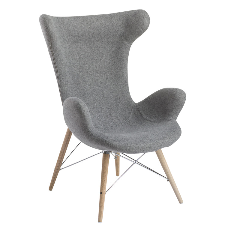 VICTOR® loungestol polyester mørkegrå