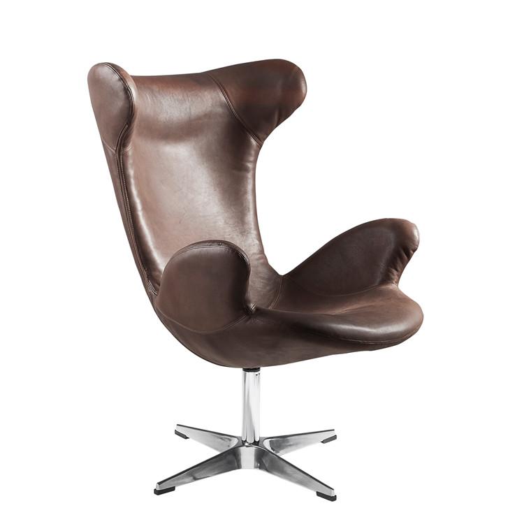 VICTOR® drejestol i læder brun