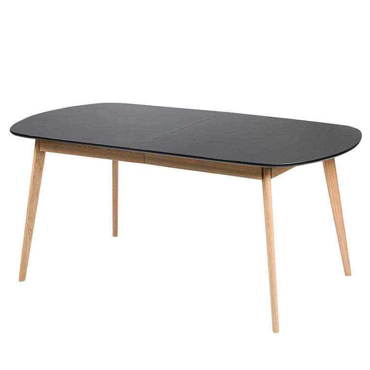 BLOOM spisebord med udtræk sort L 175-215 x B 90 cm