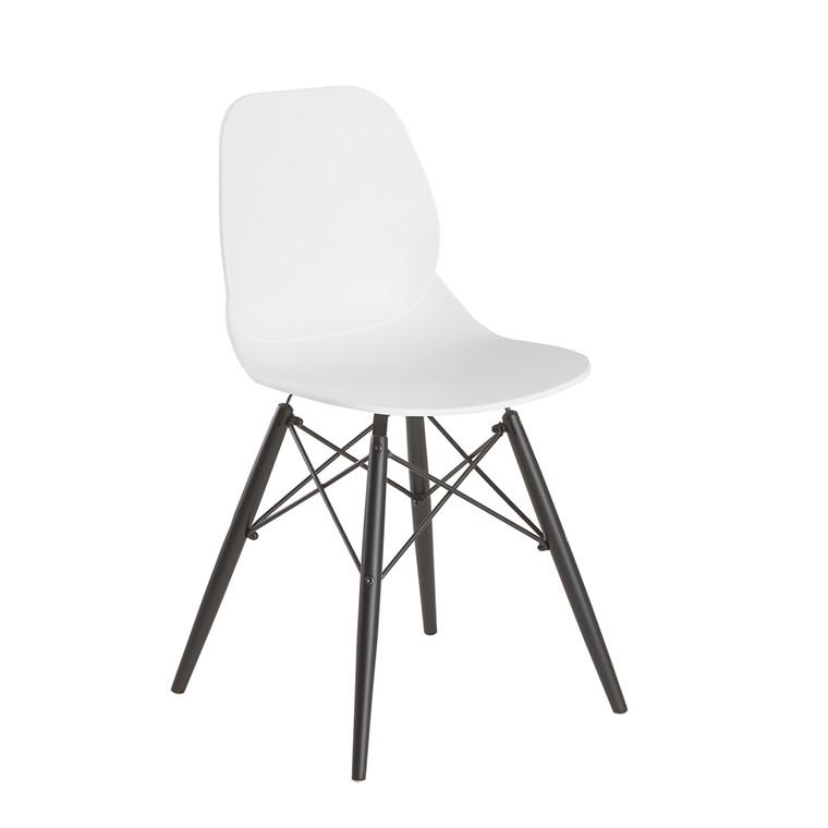 GIM spisebordsstol hvid/sort
