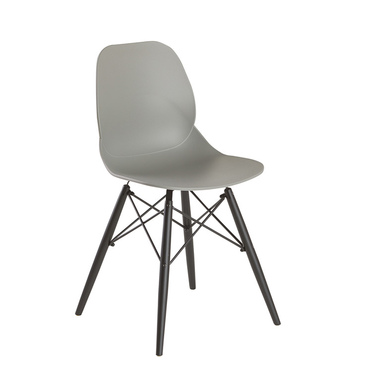 GIM spisebordsstol grå/sort