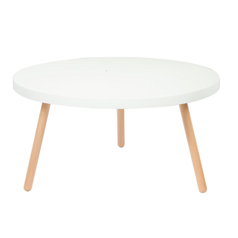 ANNABELLA sofabord hvid Ø 90 cm
