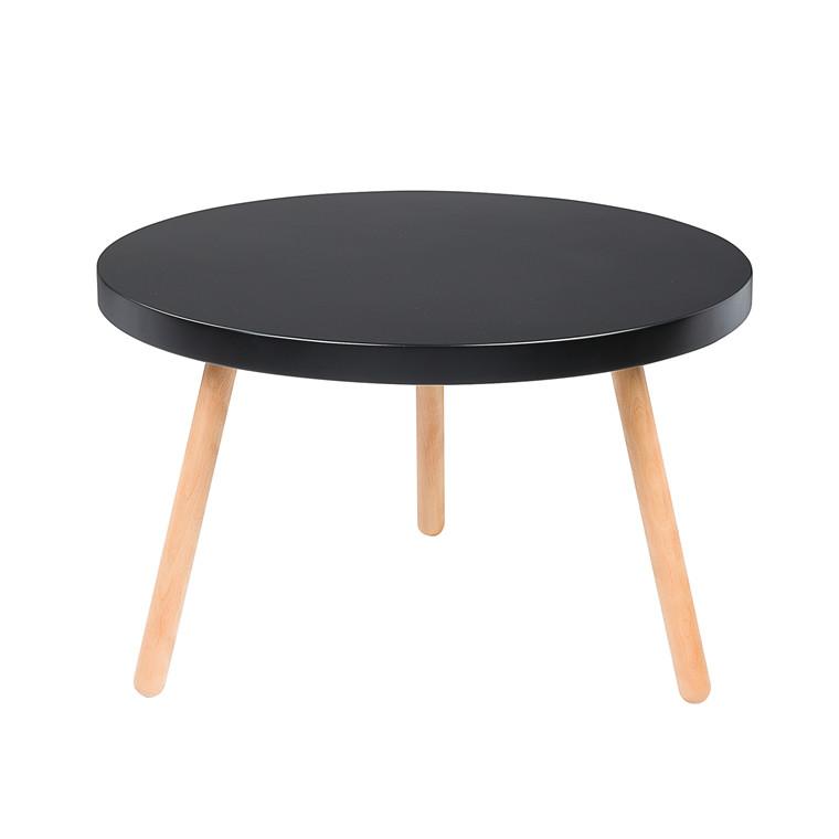 ANNABELLA sofabord sort Ø 90 cm