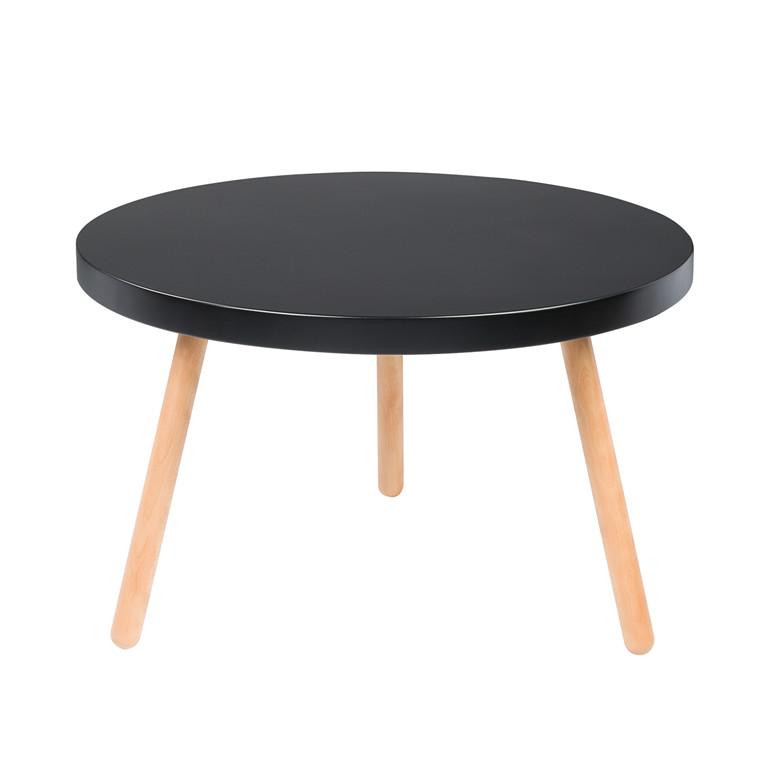 ANNABELLA sofabord sort Ø 75 cm
