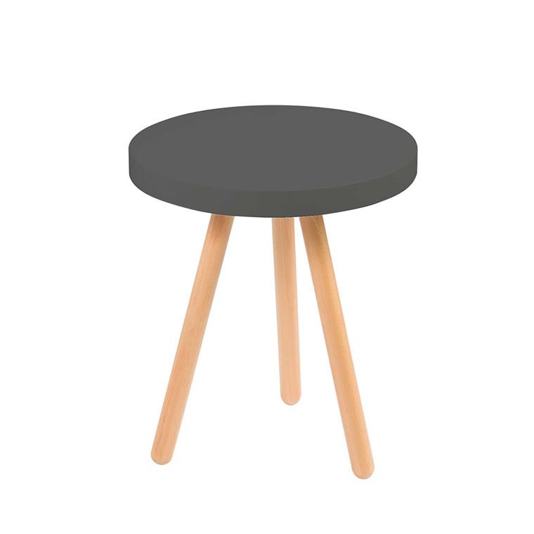 ANNABELLA sidebord sort Ø 45 cm