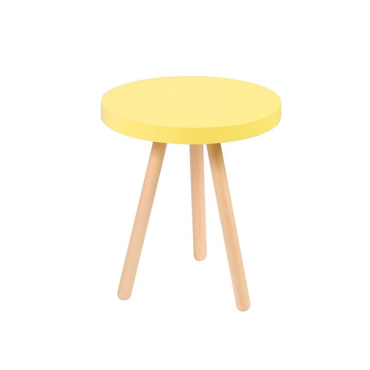ANNABELLA sidebord gul Ø 45 cm